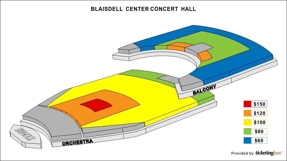 Blaisdell Concert Hall Seating Chart