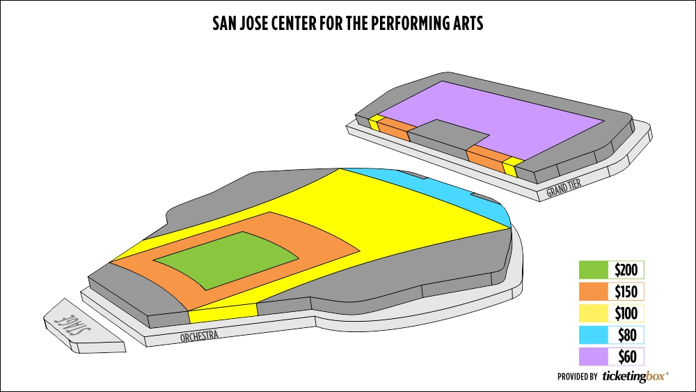 Center For Performing Arts San Jose Seating Chart